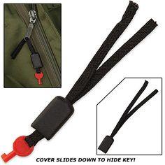 Handcuff Key Lock Pick - Disguised as Zipper Pull | True Swords