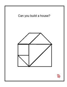 House Tangrams Printable