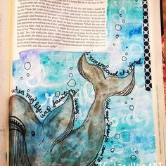 """I cannot stay caught up this week. It leaves me in a weird mood when I don't bible journal at some point in the day! #adventillustrated #jonah2v7 """"when my life was fainting away, I remembered the Lord, and my prayer came to you, into your holy temple."""" The story of Jonah is kind of hard to imagine. But when you feel like you aren't fit to do what God is asking you to do, just remember, He created you! He will give you the strength and power to do what He's asked! #biblejournaling…"""