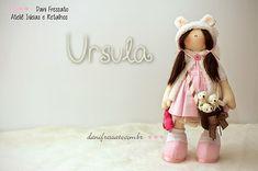 Ideias e Retalhos por Dani Fressato: Boneca Ursula e Ursinhos
