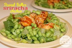 Peanut butter sriracha chicken recipe is so easy. All you need is a few simple ingredients and you've got an Asian inspired meal complete with a yummy sauce.