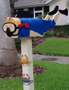 Dunedin FL mailboxes, How cute is this guy??? He would be a perfect to see outside your beautiful windows installed by us!