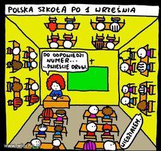 1 września Wtf Funny, Funny Memes, Anime Meme, Poland, Vines, Haha, Humor, Comics, Rage