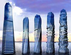 Rotating building design in Dubai