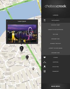Interactive application by Joana Bochecha, via Behance