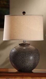 Hammered Ceramic Table Lamp #Lamps #Lighting
