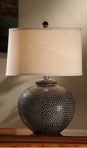 Hammered Ceramic Table Lamp #Lamps #Lighting