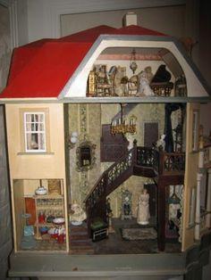 Puppenstuben & -häuser 1/12 skala puppenhaus wohnzimmer möbel vintage white grandfather uhr