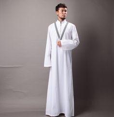 Mens Summer Cotton Abayas Moslem Long Clothing Kaftan Robes Saudi Turkish Arabia Muslim Islame Wear XXL Oman Muslim Fashion, Mens Fashion, Just For Men, African Attire, Alternative Fashion, Personal Style, Normcore, Menswear, Summer Dresses