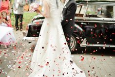 #hearts #justmarried #wedding #confetti