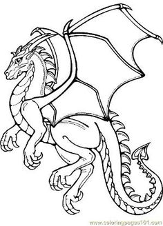 Dragon Coloring Pages Realistic | Coloring Pages Dragon Coloring Page 12 (Peoples > Fantasy) - free ... by aurelia