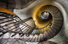 pinterest.com/fra411 #stairs - Eckmuhl Lighthouse, France