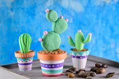 Deco Cactus, Cactus Decor, Crafts To Make, Fun Crafts, Crafts For Kids, Polymer Clay Crafts, Diy Clay, Toilet Paper Roll Crafts, Paper Crafts