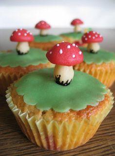toadstool cupcakes...too cute!