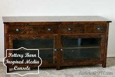 Free DIY Furniture Project Plan: Learn How to Build a Pottery Barn Inspired Media Console