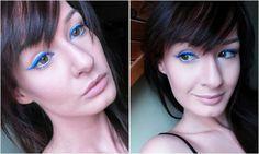 Bright cobalt blue eyeliner - NYX Vivid Sapphire Blue Eyeliner, Cobalt Blue, Nyx, Sapphire, Bright, Makeup, Maquillaje, Make Up, Makeup Application