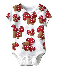 Take a look at this White Mushrooms Everywhere Bodysuit - Infant by American Classics on #zulily today!