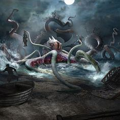 Was beyond delighted when I was assigned to paint-up a Kraken creature for MTG…