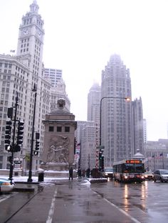 The Wrigley Building & Tribune Tower.  Taken during my 2009 Xmas trip to Chicago with my wife.