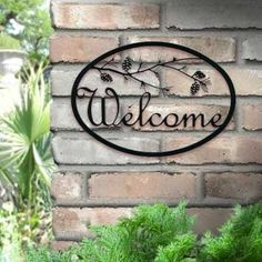 Iron Outdoor Welcome Sign