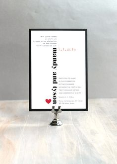 Modern Hearts  Modern Wedding Invitation Wedding by BeaconLane, $100.00