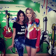 bridgit with her argentinian friend Martina Stoessel.