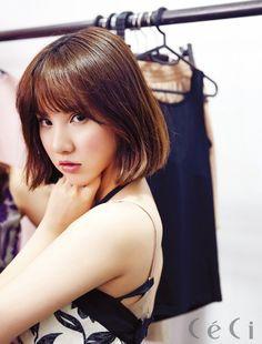Gfriend Eunha, short bob with bangs Kpop Girl Groups, Korean Girl Groups, Kpop Girls, G Friend, Girl Bands, Girl Day, Queen, Beautiful Asian Girls, Long Bob