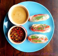 Veggie Rice Paper Rolls | A Cookbook Collection