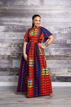 Latest Asoebi and Ankara Styles - Fashion Ruk Latest African Fashion Dresses, African Dresses For Women, African Print Dresses, African Print Fashion, African Attire, African Fashion Designers, Ankara Maxi Dress, African Fashion Traditional, Trendy Ankara Styles