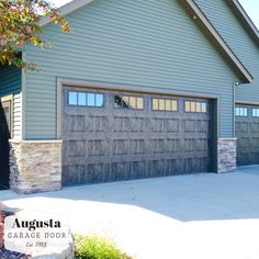 Clopay Gallery Series Garage Door In Oak Slate Garage Doors Doors Garage