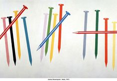 """'artwork: James Rosenquist - """"Nails"""", 1973 - Collection of the Valencia Institute of Modern Art. On view at the Moscow Museum of Modern Art until October NSC*** Pop Art Artists, Jim Dine, Oldenburg, Museum Of Modern Art, Warhol, Nail Artist, Artist At Work, All Art, Vintage Art"""