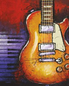 Interior Wall Art :: Canvas Print Wall Decor :: Music :: Electric Guitar Canvas Print Wall Art -