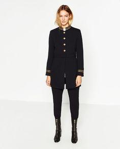 Image 1 of MANDARIN COLLAR FROCK COAT from Zara