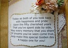 50th anniversary party ideas on a budget   50th Wedding Anniversary ... #anniversarygifts