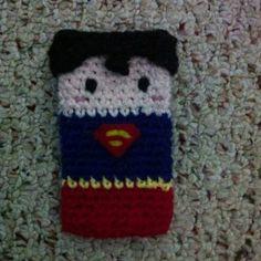 Superman inspired phone cozy $15 -- mbninja.storenvy.com