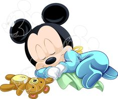 Baby Mickey, Disney Mickey, Mickey Mouse, Disney Babys, Smurfs, Disney Characters, Fictional Characters, Disney Babies, Arts And Crafts