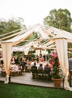 Lovely Spanish Colonial Inspired Wedding on La Fete Weddings Blog! Ivory Fabric Draping & wrought iron chandeliers with an open tent draping design » Ooh LaLa La Fete