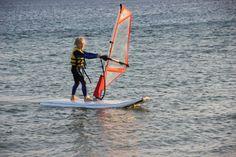 Cute windsurf girl