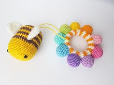 Rattle Teething toy Baby rattle Baby toy Rainbow toy Gift for baby Baby shower gift Baby teething toy Baby gift Teether Rattles New baby toy Crochet Baby Toys, Cute Crochet, Crochet For Kids, Teething Toys, Baby Teething, Newborn Toys, Plush Pattern, Baby Rattle, Handmade Toys