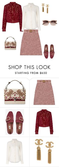 """бордо"" by messagekrd on Polyvore featuring мода, Gucci, Bally, La Perla, Chloé и Witchery"