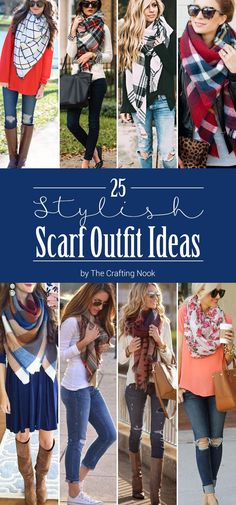 In this round up of 25 Awesome and Stylish Scarf Outfit Ideas you will find styles and ideas for any season. Because even in Summer you can use light scarves. There is one for each taste and for each season! I'm sure you will love all these ideas!