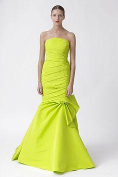 Monique Lhuillier, neon gown