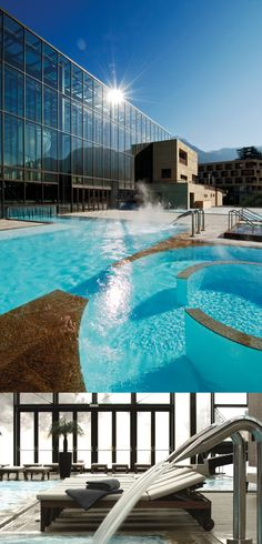 Relaxing at the Terme Merano, South Tyrol, Italy!