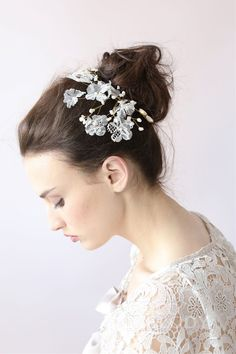 Fantastic Ivory Wedding Headpiece with Pearl SAH006