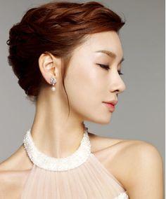 for up-do style hair & natural make-up / Korean Concept Wedding Photography - IDOWEDDING (www.ido-wedding.com)