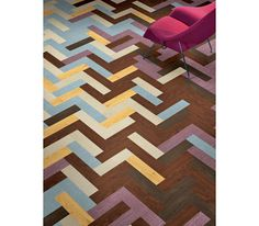 green flooring by mannington including many colors and patterns...here, Herringbone