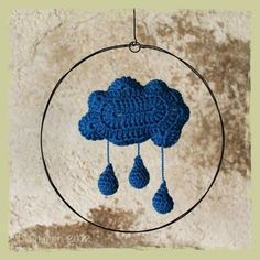 raincloud with drops, mobile