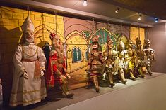 Life-size puppets on display at the Puppet Museum in Syracuse, Sicily