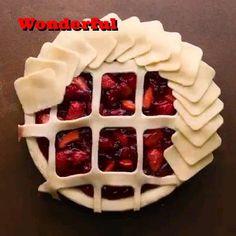 Tart Recipes, Sweet Recipes, Baking Recipes, Pie Dessert, Dessert Recipes, Pie Crust Designs, Food Decoration, Food Crafts, Creative Food