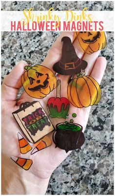 Shrinky Dinks Halloween magnets are such a fun way to add as little, or as much, spookiness to your home as you want. Kids and adults alike will love this easy craft project!
